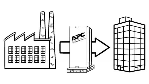 APC NetShelter SX IT cabinet shipping diagram