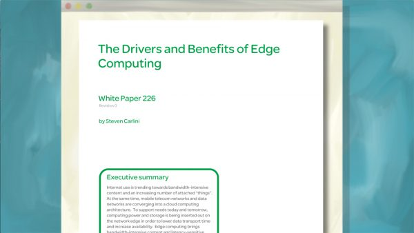 White Paper: The Drivers and Benefits of Edge Computing