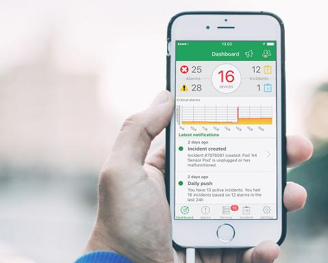 EcoStruxure IT smartphone