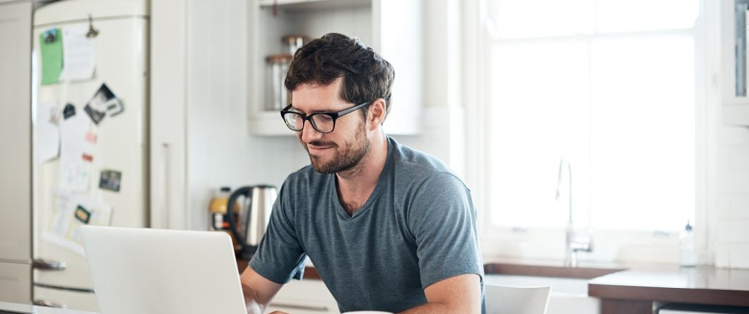 IT professional working from home managing edge computing sites
