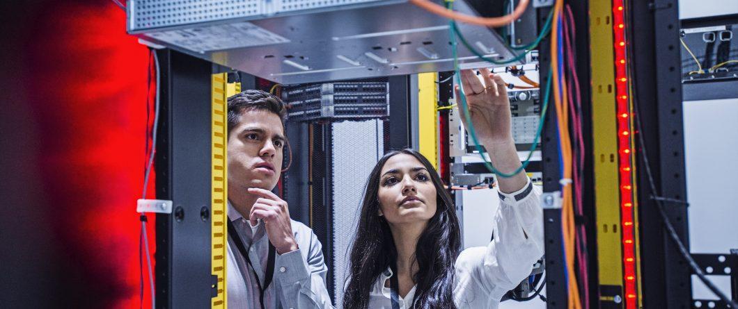 Edge Computing Remote Server Room Technicians